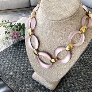 ALEXIS BITTAR Pink Lucite Necklace